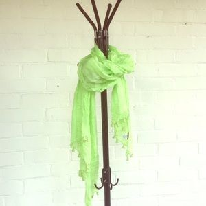 J.Crew Lime Green Mild Weather Scarf